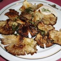 Smažené houby s česnekovou omáčkou