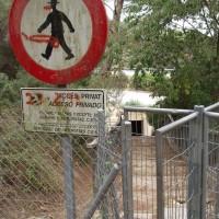 Tudy vede turistická značka k akvaduktu :-)